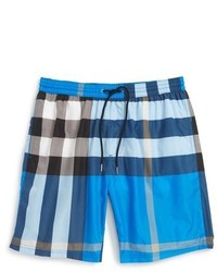 Burberry Brit Gowers Check Swim Trunks