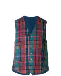 Blue Plaid Waistcoat