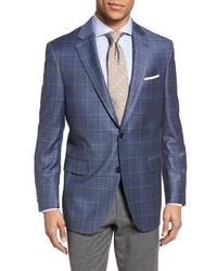 Classic fit plaid wool sport coat medium 1195422