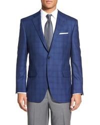 Flynn classic fit plaid wool sport coat medium 600924