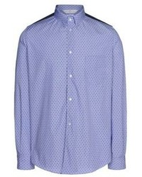 Blue Polka Dot Long Sleeve Shirt