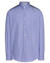 Blue Polka Dot Long Sleeve Shirt