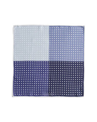J.Z. Richards Polka Dot Pocket Square Blue One Size