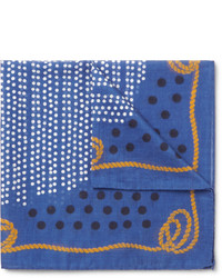 Printed cotton pocket square medium 414195