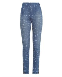High rise polka dot skinny jeans medium 186615