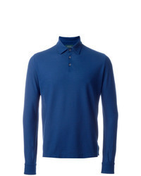 Blue Polo Neck Sweater