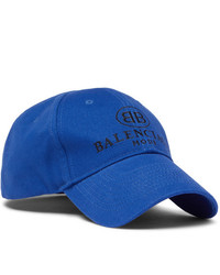 Balenciaga Logo Embroidered Cotton Baseball Cap