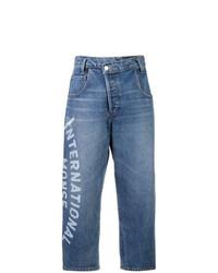 Monse Wide Leg Cropped Jeans