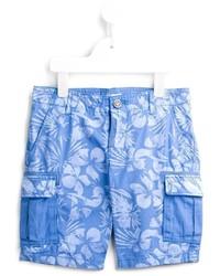 Armani Junior Hibiscus Print Shorts