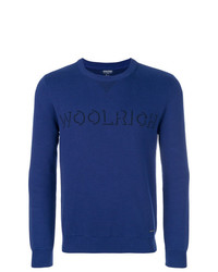 Woolrich Logo Intarsia Knit Sweater