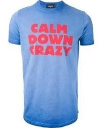 Blue Print Crew-neck T-shirt