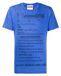Moschino Care Label Print T Shirt