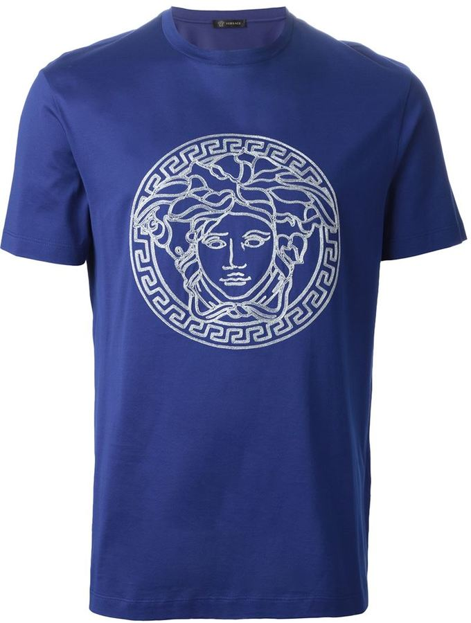 versace collection herren t shirt medusa kopf navy l botschaft. Black Bedroom Furniture Sets. Home Design Ideas