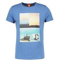 Tacket print t shirt blue medium 4157447
