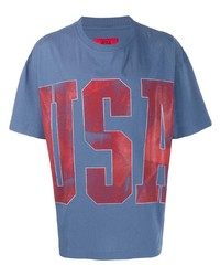 424 Usa Slogan Print T Shirt