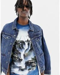G Star X Jaden Smith Water Loose T Shirt In Blue