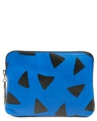 31 second triangle print leather pouch medium 79965
