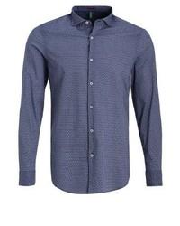 Slim fit shirt dark blue medium 3776264