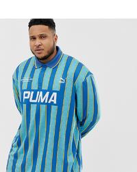 Puma Striped Football T Shirt
