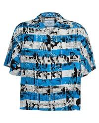 Prada Short Sleeved Printed Shirt