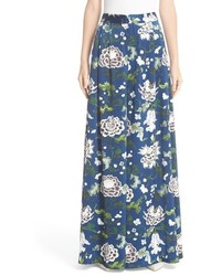 ADAM by Adam Lippes Adam Lippes Floral Print Silk Wide Leg Pants