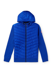 Canada Goose Hybridge Slim Fit Merino Wool And Quilted Nylon Hooded Down Jacket