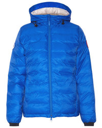 Canada Goose Camp Hooded Quilted Shell Down Jacket Bright Blue
