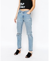 Cheap Monday Common Boyfriend Jeans With Rips