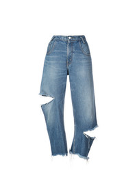 Monse Distressed Cropped Jeans Unavailable