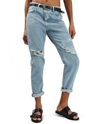 Topshop Hayden Bleach Ripped Boyfriend Jeans