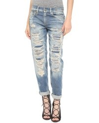 R 13 R13 Shredded Boyfriend Jeans