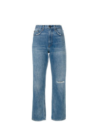 Rag & Bone Ripped Knee Boyfriend Jeans