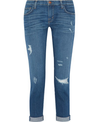 The fling distressed slim boyfriend jeans mid denim medium 845998