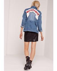 Blue Ripped Denim Jacket
