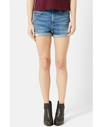 Topshop Moto Rosa Cuffed Denim Shorts