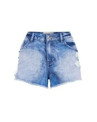 Exclusives New Look Blue Faded Denim Mom Shorts