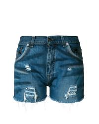 Chiara Ferragni Palm Denim Shorts
