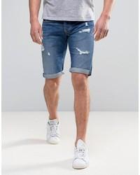 Pepe Jeans Pepe Cash Regular Fit Denim Short Medium Destroyed Wash