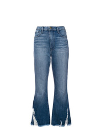 Frame Denim Crop Flared Jeans