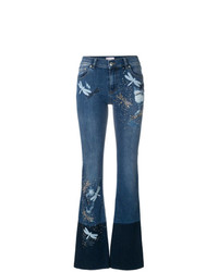 RED Valentino Dragonfly Patch Bootcut Jeans