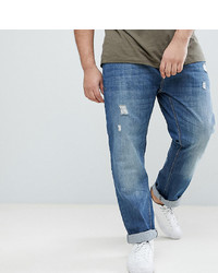 BadRhino Big Tapered Fit Jeans In Rip Repair