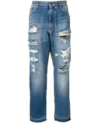 Dolce & Gabbana Camouflage Detail Jeans