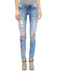 Denim distressed skinny jeans medium 295633
