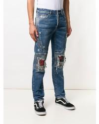 Marcelo Burlon County of Milan Distressed Biker Jeans