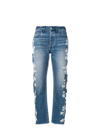 3x1 Distressed Cropped Jeans