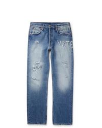 Vetements Distressed Denim Jeans