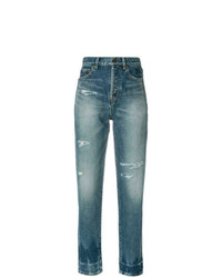 Saint Laurent Distressed Fitted Jeans