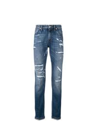 Pt05 Distressed Slim Fit Jeans