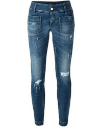 Distressed slim jeans medium 690894