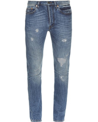 Valentino Distressed Slim Leg Jeans
